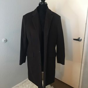 Banana Republic Wool/Cashmere long pea coat sz S